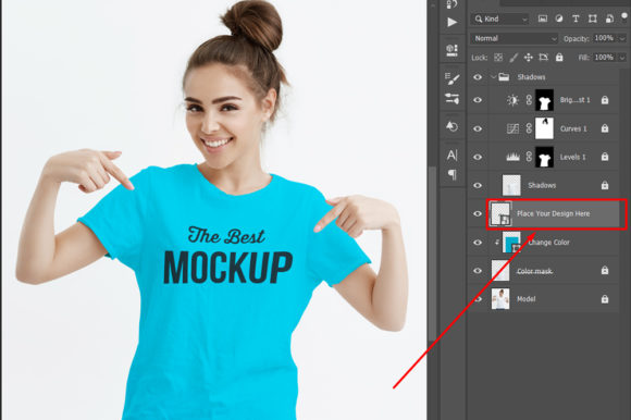 Print on Demand: Woman T-shirt Mockup Graphic Product Mockups By Graphicflow
