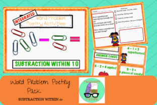 Word Problem Subtraction Poems Graphic 1st grade By Teacher's Tribe
