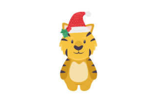 Christmas Tiger Christmas Craft Cut File By Creative Fabrica Crafts