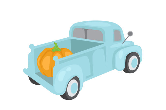 Pumpkin in Pickup Truck Fall Craft Cut File By Creative Fabrica Crafts