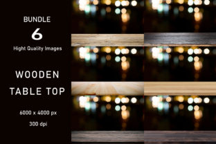 Print on Demand: 6 Empty Wooden Table Digital Backdrop-11 Graphic Product Mockups By iJStudio