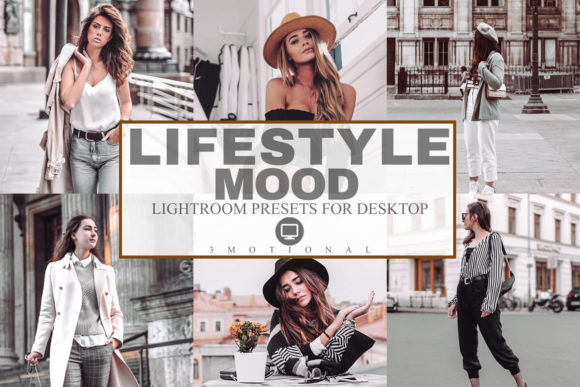 Print on Demand: 7 Lifestyle Mood Lightroom Presets Graphic Actions & Presets By 3Motional