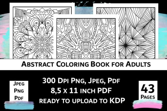 Print on Demand: Abstract Coloring Book for Adults Vol.2 Graphic Coloring Pages & Books Adults By Fleur de Tango - Image 1