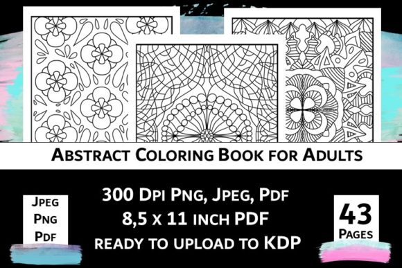 Print on Demand: Abstract Coloring Book for Adults Vol.2 Graphic Coloring Pages & Books Adults By Fleur de Tango - Image 10