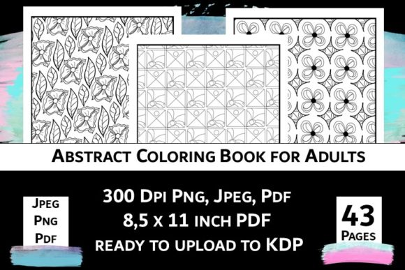 Print on Demand: Abstract Coloring Book for Adults Vol.2 Graphic Coloring Pages & Books Adults By Fleur de Tango - Image 11