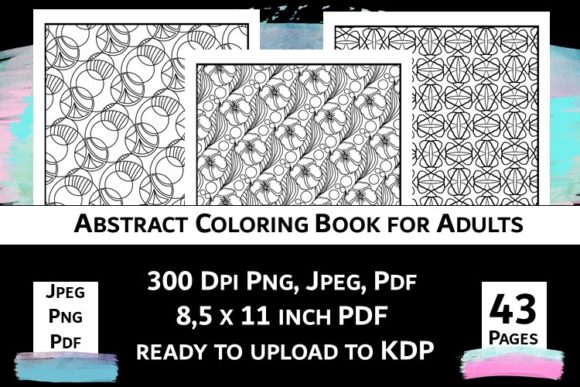 Print on Demand: Abstract Coloring Book for Adults Vol.2 Graphic Coloring Pages & Books Adults By Fleur de Tango - Image 12