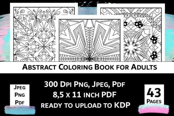 Print on Demand: Abstract Coloring Book for Adults Vol.2 Graphic Coloring Pages & Books Adults By Fleur de Tango - Image 2