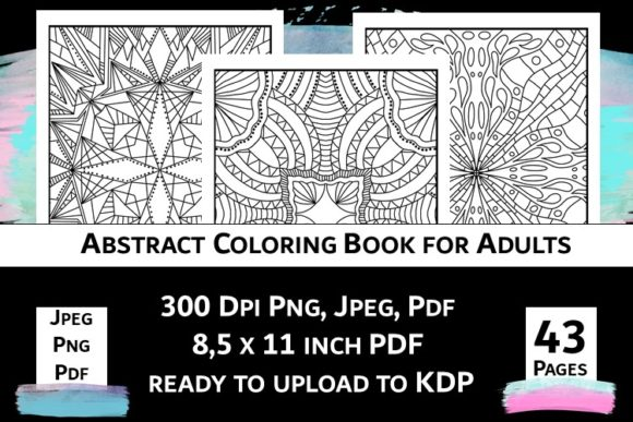 Print on Demand: Abstract Coloring Book for Adults Vol.2 Graphic Coloring Pages & Books Adults By Fleur de Tango - Image 3