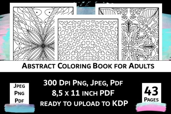 Print on Demand: Abstract Coloring Book for Adults Vol.2 Graphic Coloring Pages & Books Adults By Fleur de Tango - Image 4