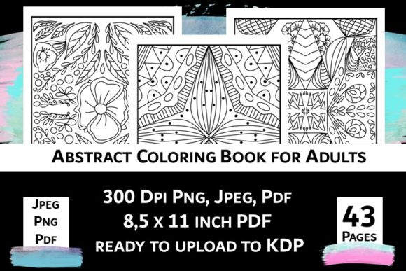 Print on Demand: Abstract Coloring Book for Adults Vol.2 Graphic Coloring Pages & Books Adults By Fleur de Tango - Image 5
