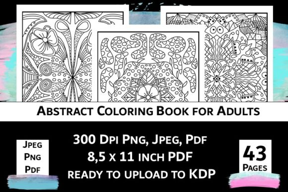 Print on Demand: Abstract Coloring Book for Adults Vol.2 Graphic Coloring Pages & Books Adults By Fleur de Tango - Image 6
