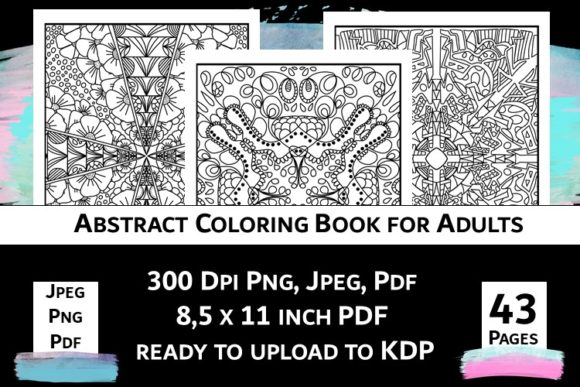 Print on Demand: Abstract Coloring Book for Adults Vol.2 Graphic Coloring Pages & Books Adults By Fleur de Tango - Image 7