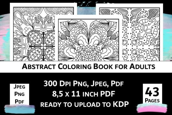 Print on Demand: Abstract Coloring Book for Adults Vol.2 Graphic Coloring Pages & Books Adults By Fleur de Tango - Image 8