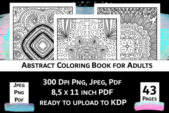 Print on Demand: Abstract Coloring Book for Adults Vol.2 Graphic Coloring Pages & Books Adults By Fleur de Tango - Image 9