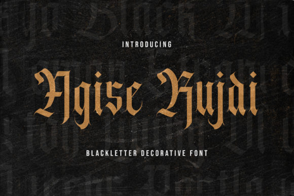 Print on Demand: Agise Rujdi Blackletter Font By StringLabs