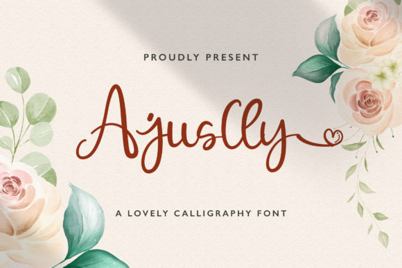 Print on Demand: Ajuslly Script & Handwritten Font By StringLabs