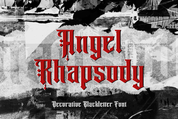 Print on Demand: Angel Rhapsody Blackletter Font By StringLabs