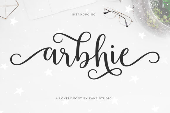 Print on Demand: Arbhie Script & Handwritten Font By Zane Studio