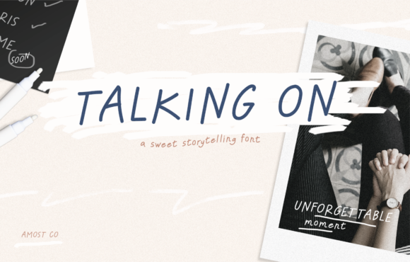 Print on Demand: Talking on Script & Handwritten Font By AMost.Co