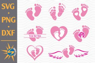 Print on Demand: Baby Feet Graphic Crafts By SVGStoreShop