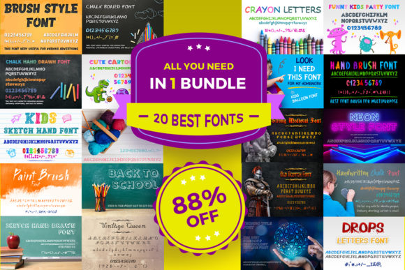 Print on Demand: Beautiful Fonts Bundle  By OWPictures