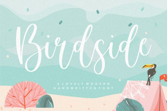 Print on Demand: Birdside Script & Handwritten Font By Balpirick