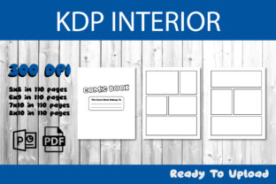 Print on Demand: Blank Comic Book for KDP Interior Graphic KDP Interiors By IsaraDesign