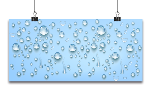 Blue Water Drops Background Graphic Backgrounds By Ju Design