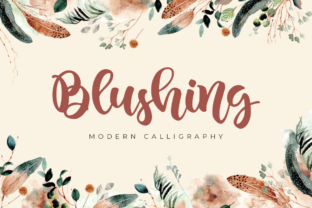 Print on Demand: Blushing Script & Handwritten Font By agniardii