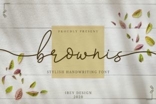 Print on Demand: Brownis Script & Handwritten Font By ibeydesign