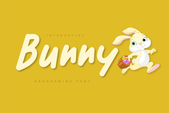 Print on Demand: Bunny Display Font By twinletter