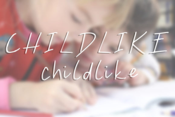 Print on Demand: Childlike Script & Handwritten Font By letteringm8