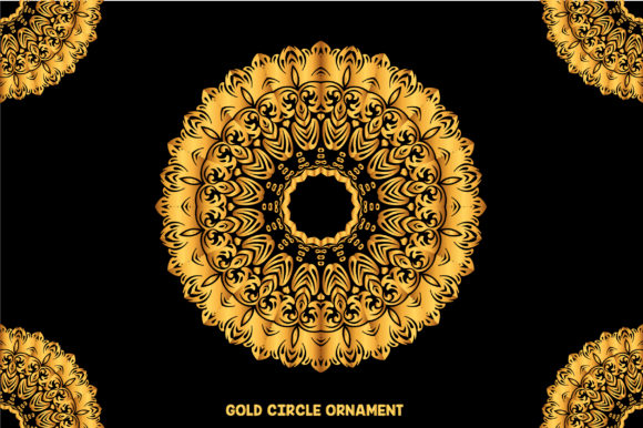 Circle Ornaments and Mandala Colors Graphic Patterns By ucifersproject