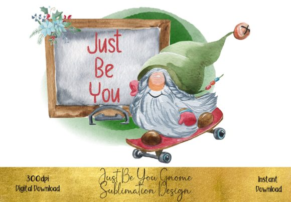 Cute Christmas Gnome Sublimation Design Graphic Illustrations By STBB