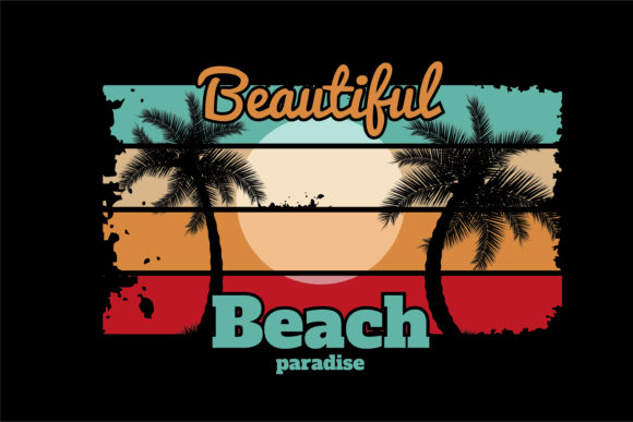 Print on Demand: DIstressed Beach Paradise Graphic Crafts By edywiyonopp