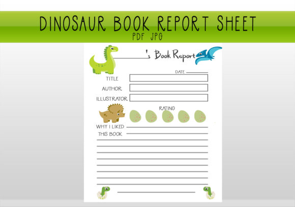 Print on Demand: Dinosaur Book Report Worksheet Graphic Print Templates By CapeAirForce
