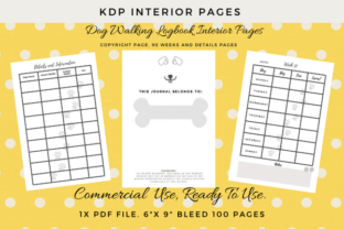 Print on Demand: Dog Walking Log-Book Journal KDP Ready. Graphic KDP Interiors By Simpsys Designs