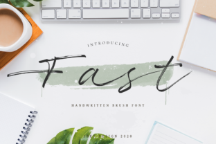 Print on Demand: Fast Script & Handwritten Font By ibeydesign