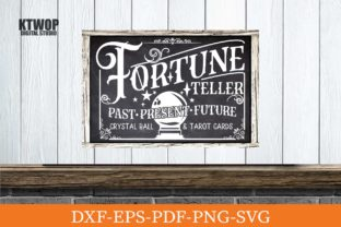 Print on Demand: Fortune Teller Sign Graphic Crafts By KtwoP