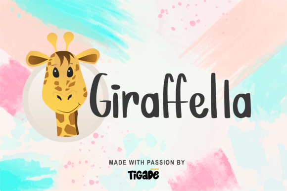 Print on Demand: Giraffella Display Font By Tigade std
