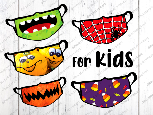 Halloween & Fall Face Mask Sublimation Graphic Download