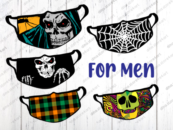 Halloween & Fall Face Mask Sublimation Graphic Design