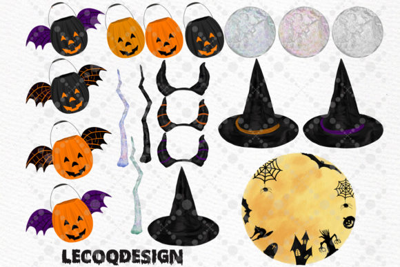 Halloween Girls Clipart Witches Clipart Graphic Illustrations By LeCoqDesign - Image 3