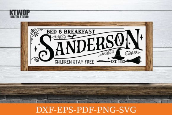 Print on Demand: Halloween Sanderson Bed and Breakfast Graphic Crafts By KtwoP