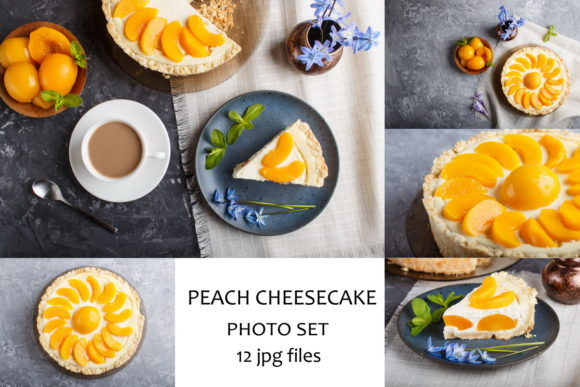 Homemade Peach Cheesecake Photo Set Graphic Food & Drinks By Uladzimir Zgurski Photos