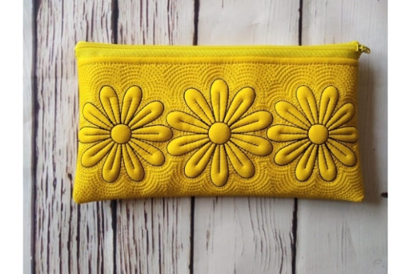 ITH Zippered Bag - Chamomile Embroidery