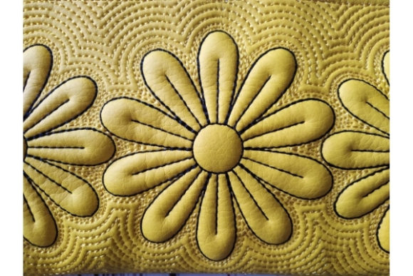 ITH Zippered Bag - Chamomile Embroidery Item