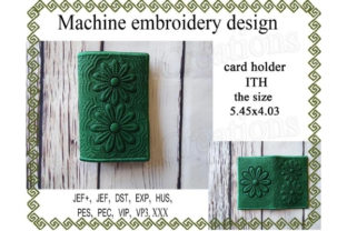 ITH Card Holder - Flower Sewing & Crafts Embroidery Design By ImilovaCreations