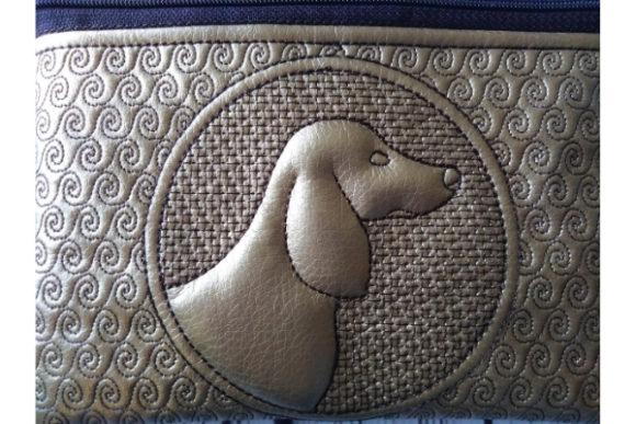 ITH Zippered Bag - Dog Embroidery Item