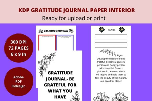 Print on Demand: KDP Gratitude Journal Interior Graphic KDP Interiors By Creative arts